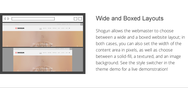 Shogun - the First Reactive WordPress Theme