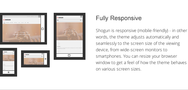 shogun features - responsive