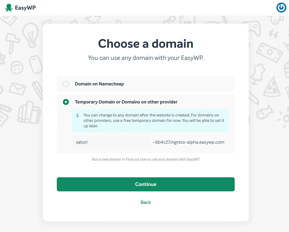 EasyWP domain