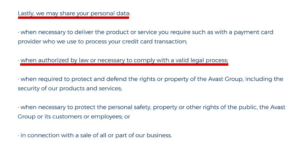 HMA privasi - membagikan