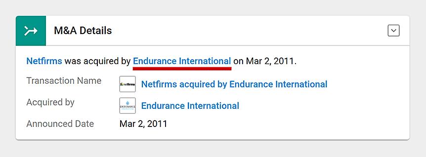 Netfirms + Endurance?