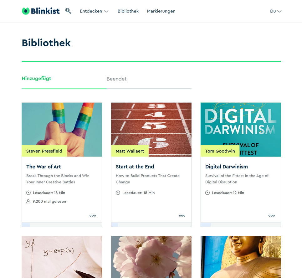 Blinkist Webservice