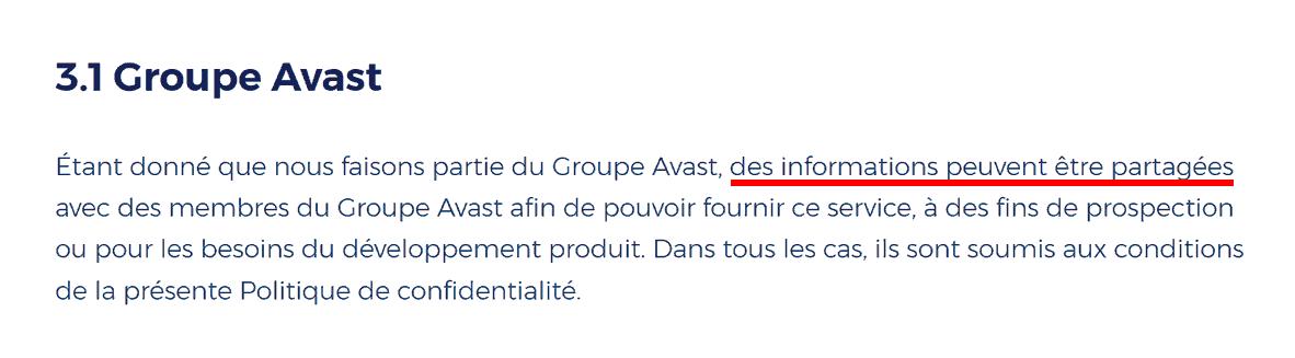 HMA: Groupe Avast