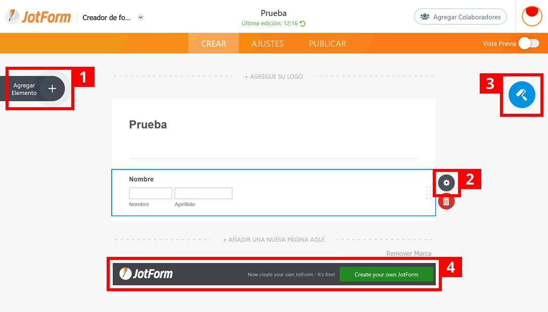 JotForm: creador
