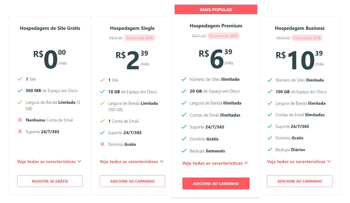 000Webhost: preços