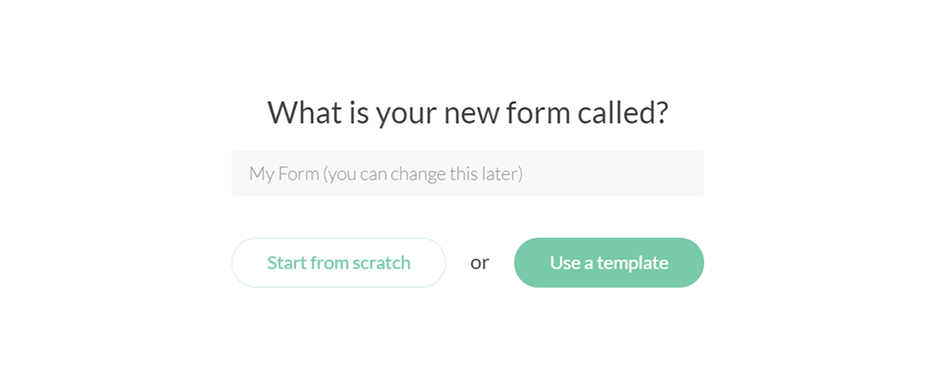 Paperform: start