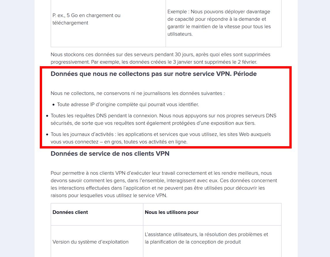 Avast VPN : politique de non journalisation