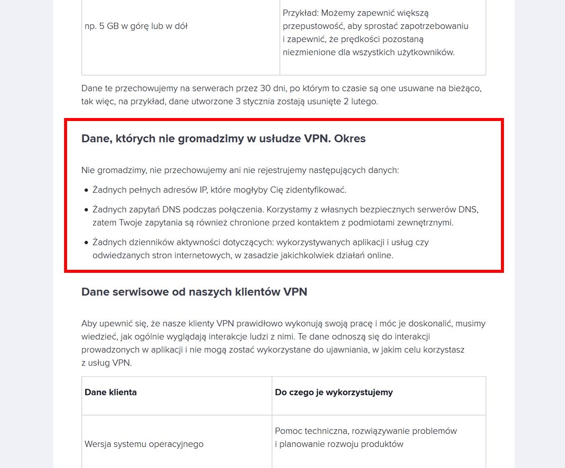 Avast VPN: zasadzie dotyczącej logów