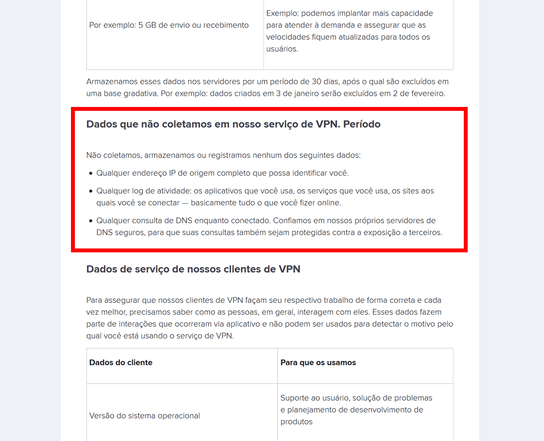 "Avast Secureline VPN: princípio de ""no-logs"""